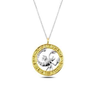 Gumush - Gümüş Gold Akrep Burcu Kolye