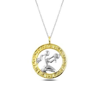 Gumush - Gümüş Gold Başak Burcu Kolye