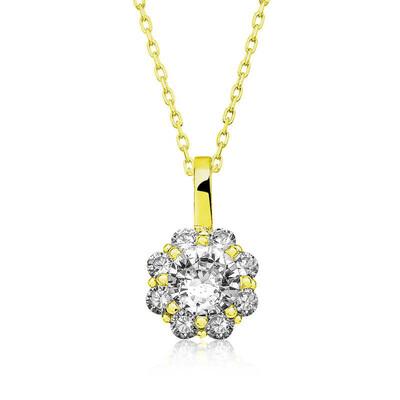 Gumush - Gümüş Gold Çiçek Kolye