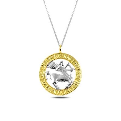 Gumush - Gümüş Gold Yay Burcu Kolye