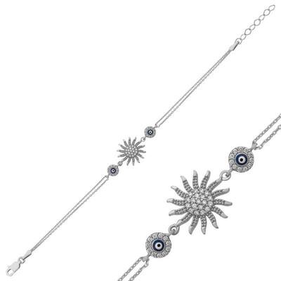 Tekbir Silver - Gümüş Güneş Bayan Bileklik