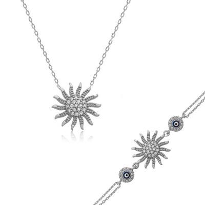 Tekbir Silver - Gümüş Güneş Bayan Set