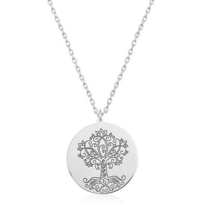 Gumush - Gümüş Hayat Ağacı Bayan Kolye