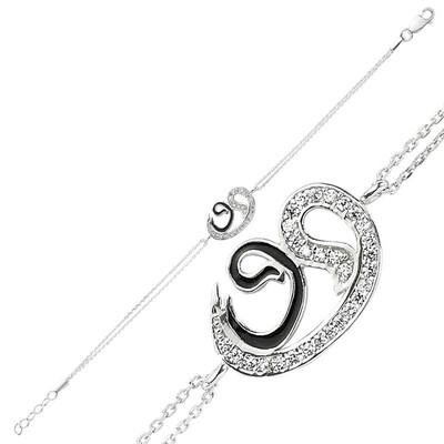 Tekbir Silver - Gümüş İki Vavlı Bayan Bileklik