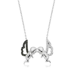 Tekbir Silver - Gümüş İkili Melek Bayan Kolye
