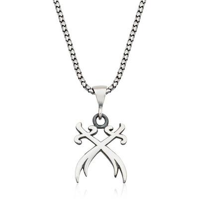 Tekbir Silver - Gümüş İkili Zülfikar Kılıcı Kolye