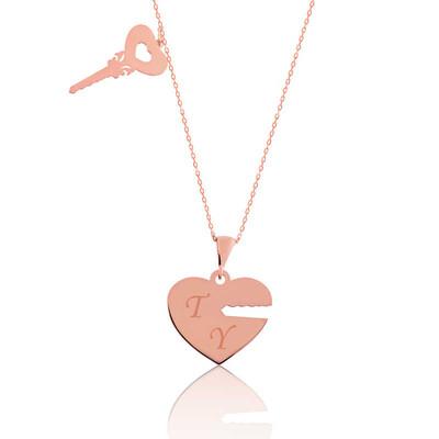 Tekbir Silver - Gümüş Kalbimin Anahtarı İsimli Bayan Kolye