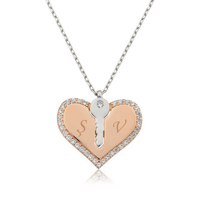 Tekbir Silver - Gümüş Kalbimin Anahtarı Kolye