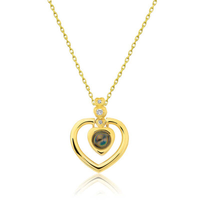 Gumush - Gümüş Kalp 100 Dilde Seni Seviyorum Kolye