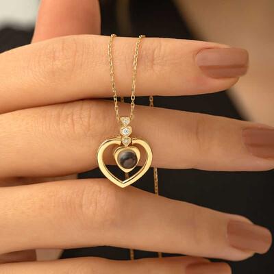 Gumush - Gümüş Kalp 100 Dilde Seni Seviyorum Kolye (1)