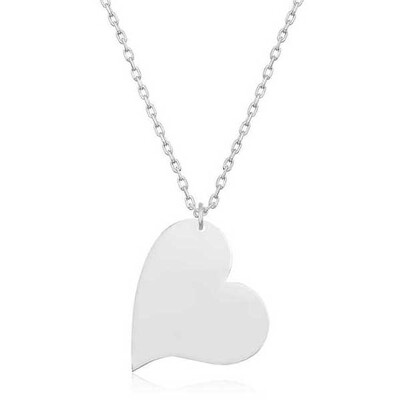 Gumush - Gümüş Kalp Bayan Kolye
