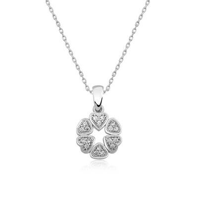 Gumush - Gümüş Kalp Çemberi Bayan Kolye
