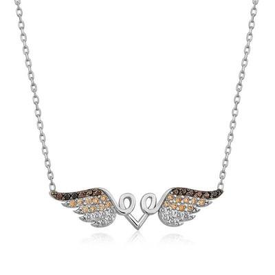 Tekbir Silver - Gümüş Kanatlı Kalp Kolye