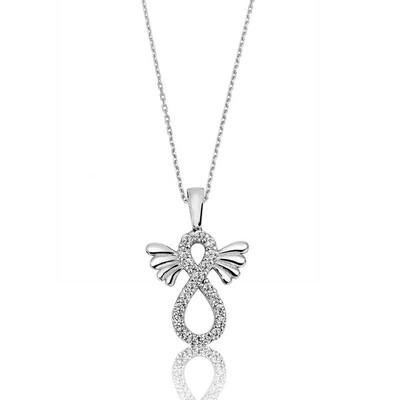 Tekbir Silver - Gümüş Kanatlı Sonsuzluk Bayan Kolye