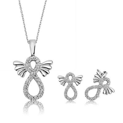 Tekbir Silver - Gümüş Kanatlı Sonsuzluk Bayan Set