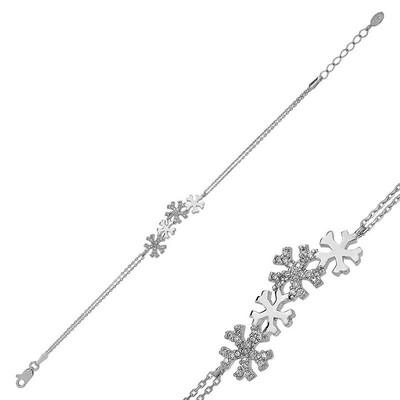 Tekbir Silver - Gümüş Kar Taneleri Bayan Bileklik