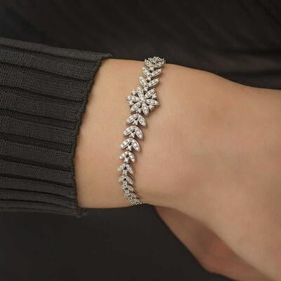 Tekbir Silver - Gümüş Kar Tanesi Bayan Bileklik (1)