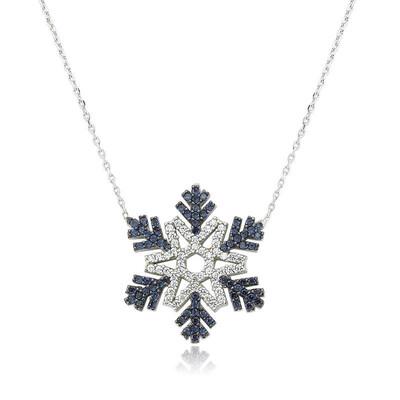 Tekbir Silver - Gümüş Kar Tanesi Bayan Kolye