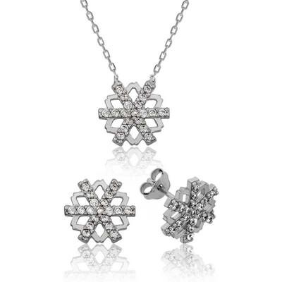 Tekbir Silver - Gümüş Kar Tanesi Bayan Set