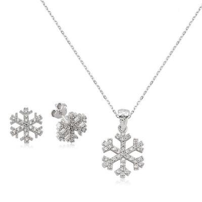Gumush - Gümüş Kar Tanesi Bayan Set