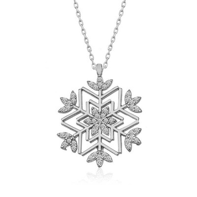 Gumush - Gümüş Kar Tanesi Kolye