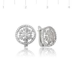Tekbir Silver - Gümüş Kar Tanesi Küpe