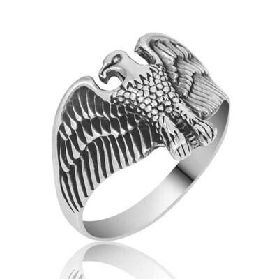 Tekbir Silver - Gümüş Kartal Erkek Yüzük