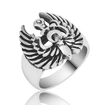 Tekbir Silver - Gümüş Kartal Kanadı Erkek Yüzük