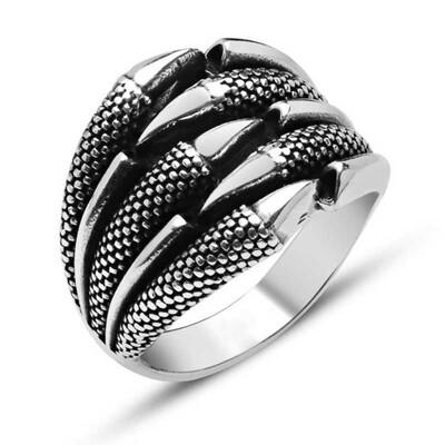 Tekbir Silver - Gümüş Kartal Pençesi Erkek Yüzük