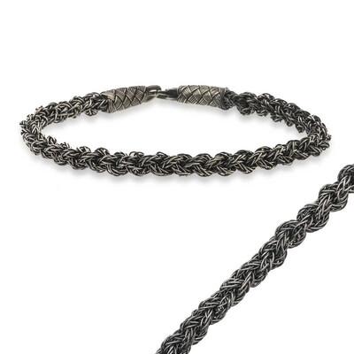 Tekbir Silver - Gümüş Kazaz Örgü Bileklik