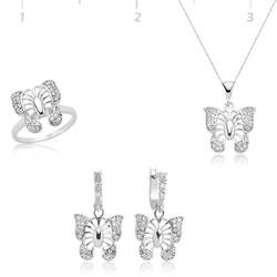 Tekbir Silver - Gümüş Kelebek Bayan Set