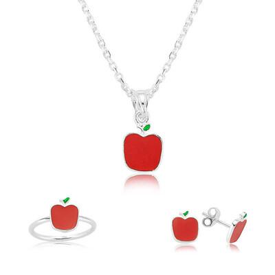 Tekbir Silver - Gümüş Kırmızı Elma Çocuk Set