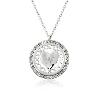 Gumush - Gümüş Kişiye Özel Sonsuz Kalp Bayan Kolye