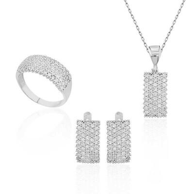 Tekbir Silver - Gümüş Klasik Su Yolu Bayan Set