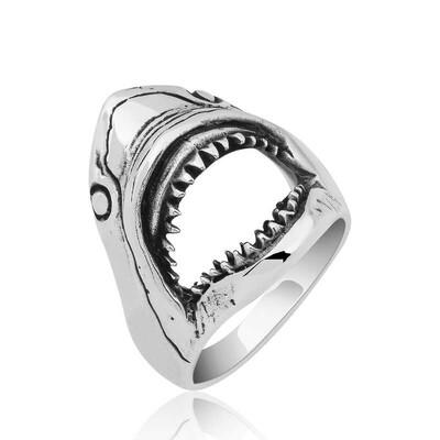 Gumush - Gümüş Köpek Balığı Erkek Yüzük