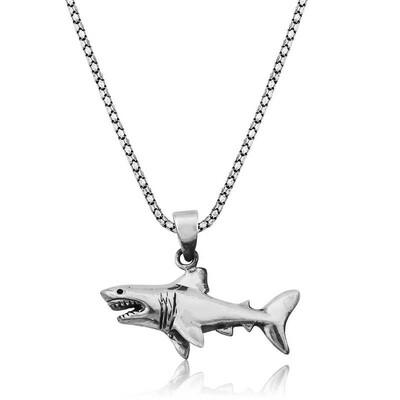 Tekbir Silver - Gümüş Köpek Balığı Kolye