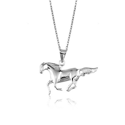 Tekbir Silver - Gümüş Koşan At Kolye