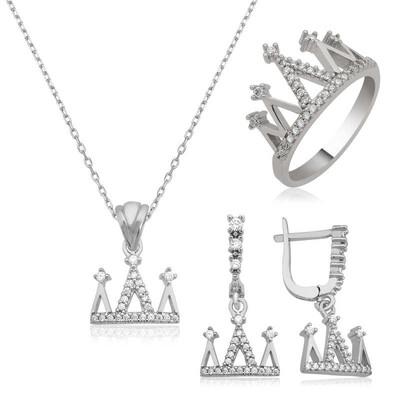 Tekbir Silver - Gümüş Kraliçe Tacı Bayan Set