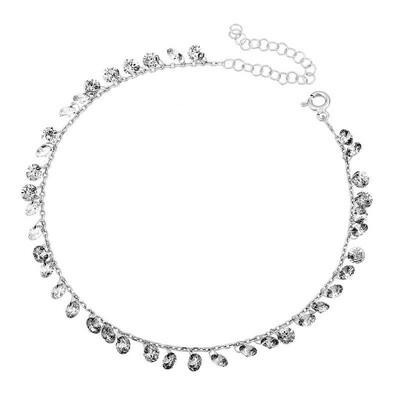 Tekbir Silver - Gümüş Kristal Taşlı Halhal