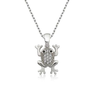Tekbir Silver - Gümüş Kurbağa Bayan Kolye