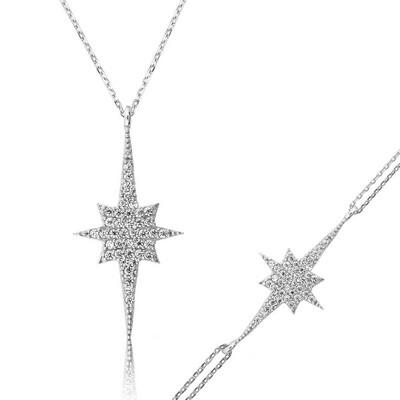 Tekbir Silver - Gümüş Kutup Yıldızı Bayan Set