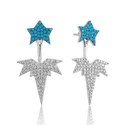 Tekbir Silver - Gümüş Kutup Yıldızı Sihirli Küpe