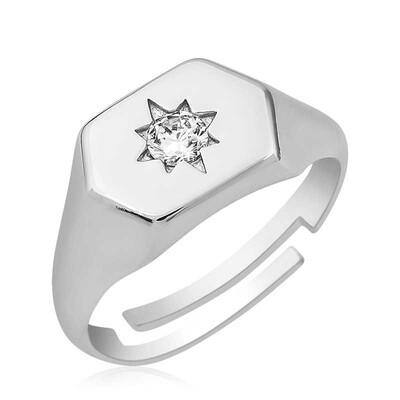 Tekbir Silver - Gümüş Kuzey Yıldızı Serçe Yüzük