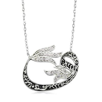 Tekbir Silver - Gümüş Lale Vav Bayan Kolye