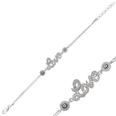 Tekbir Silver - Gümüş Love Bayan Bileklik