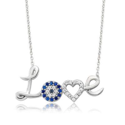 Tekbir Silver - Gümüş Love Bayan Kolye