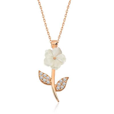 Gumush - Gümüş Manolya Çiçeği Bayan Kolye