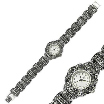 Tekbir Silver - Gümüş Markazit Taşlı Bayan Saat
