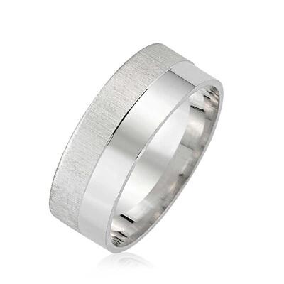 Tekbir Silver - Gümüş Mat Parlak Alyans