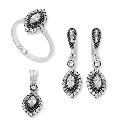 Tekbir Silver - Gümüş Mekik Bayan Set